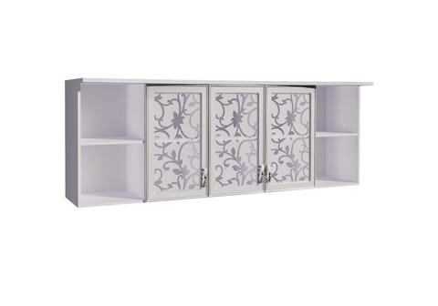 Шкаф навесной Melania 11 Арника рамух белый