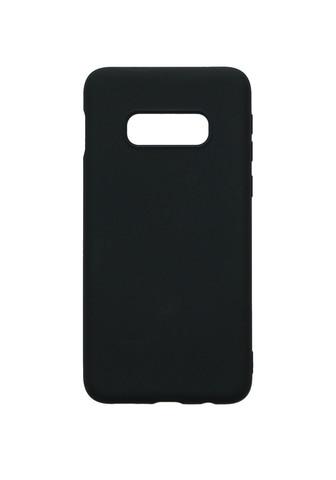 Чехол для Samsung (G970) Galaxy S10e Софт тач мягкий эффект   микрофибра черный