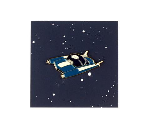 Значок металлический Машинка Синяя