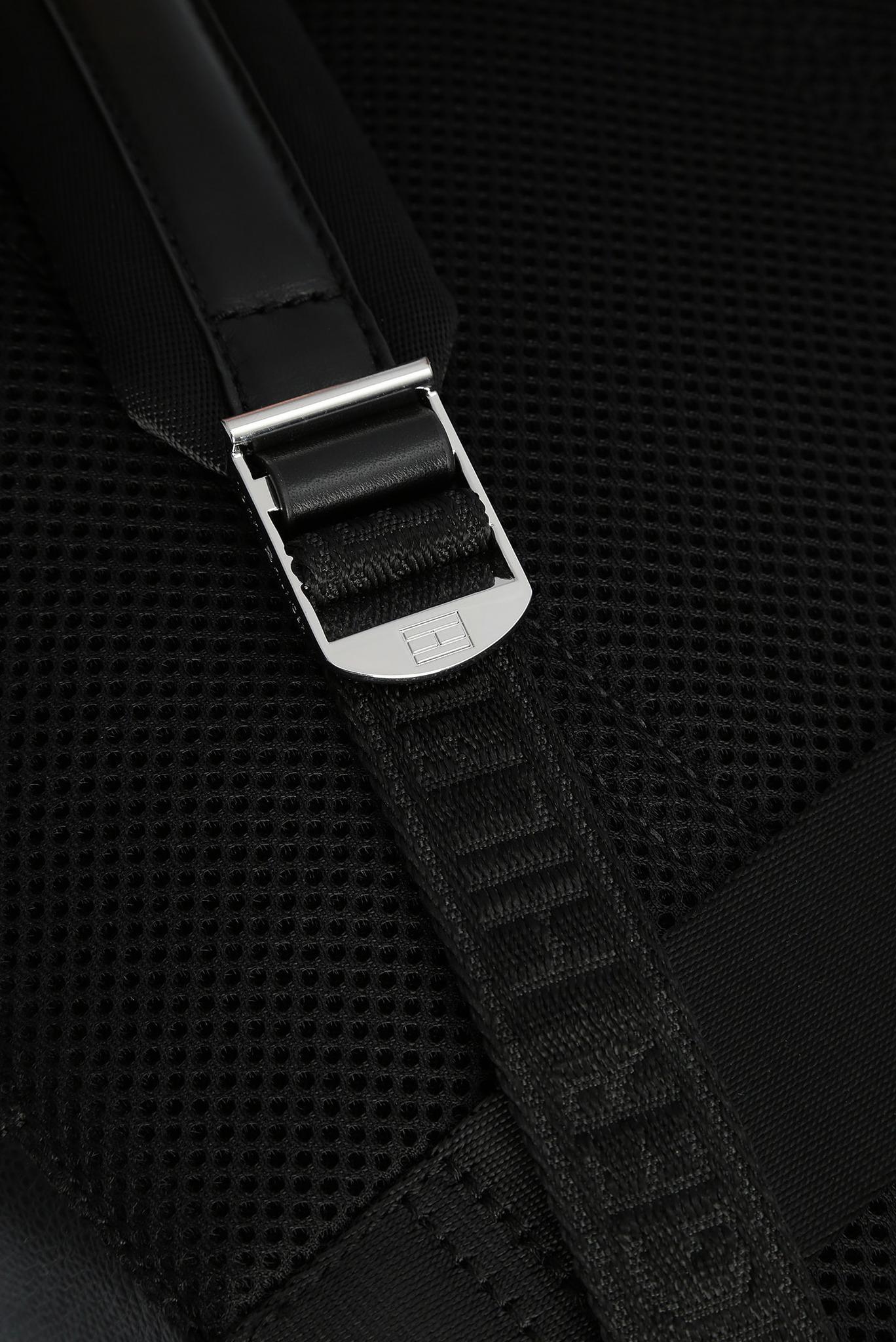 Мужской черный кожаный рюкзак BUSINESS Tommy Hilfiger
