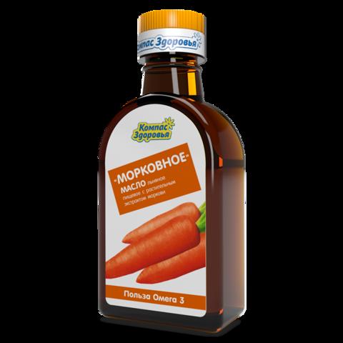 Масло льняное Морковное 200 мл (Компас здоровья)