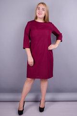 Вірта. Цікава сукня великих розмірів. Бордо.