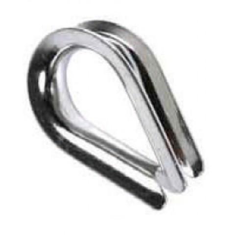 Коуш нерж. сталь AISI-316 - для крепления троса/001-0304