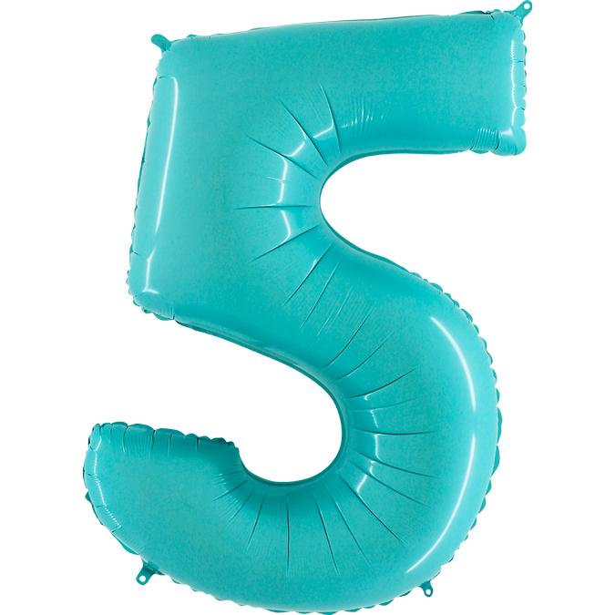 Голубая цифра 5