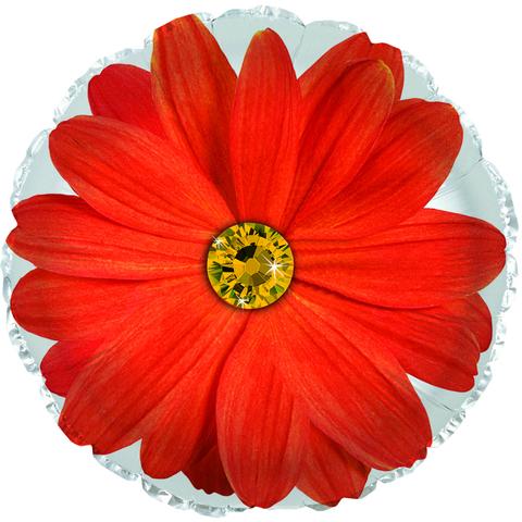 Фольгированный шар Гербера оранжевый