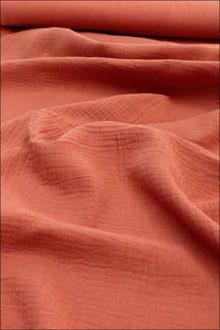 Ткань муслиновая,терракот