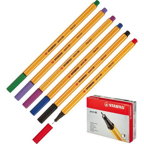 Набор линеров Stabilo Point 88/6 6 цветов (толщина линии 0.4 мм)
