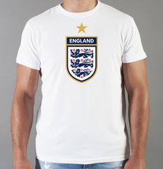 Футболка с принтом FC England (Сборная Англии) белая 001