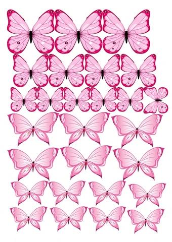 Печать на вафельной бумаге, Набор Бабочки 9