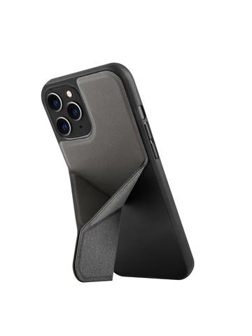 Чехол Uniq Transforma для iPhone 12/12 Pro | с раскладной магнитной подставкой серый