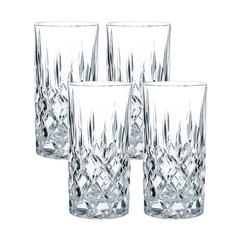 Набор из 4 высоких хрустальных стаканов Noblesse, 375 мл, фото 1