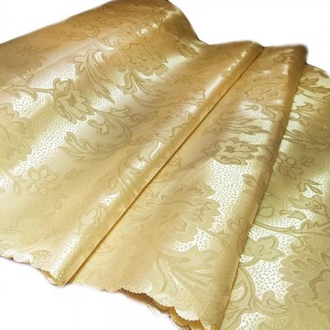 Портьерная ткань 150 см 22 цвет бежевый ветка