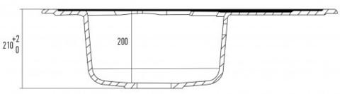 Мойка для кухни Kuppersberg CAPRI 1B1D WHITE ALABAS.