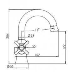 Смеситель KAISER Carlson Lux 11211 для раковины  схема