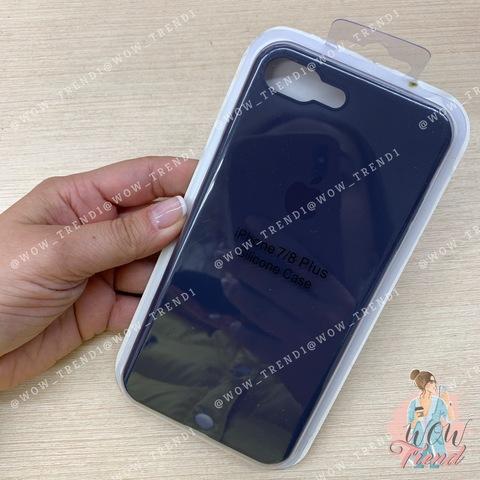 Чехол iPhone 7/8 Plus Silicone Slim Case /midnight  blue/