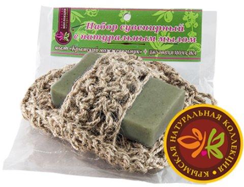 Мочалка с мылом «Можжевельник»™Крымская Натуральная Коллекция