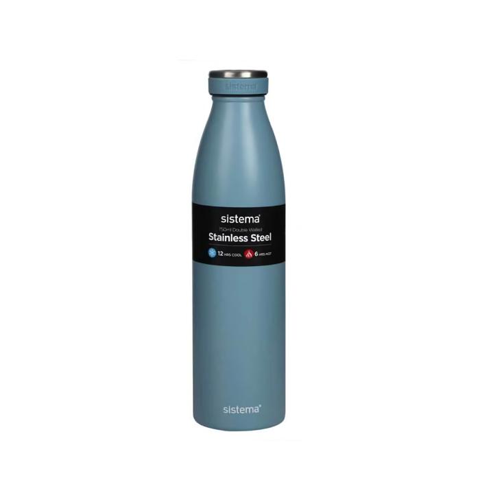 "Термобутылка Sistema ""Hydrate"" 750 мл, цвет Серо-голубой"