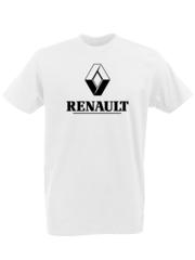 Футболка с принтом Рено (Renault) белая 0002