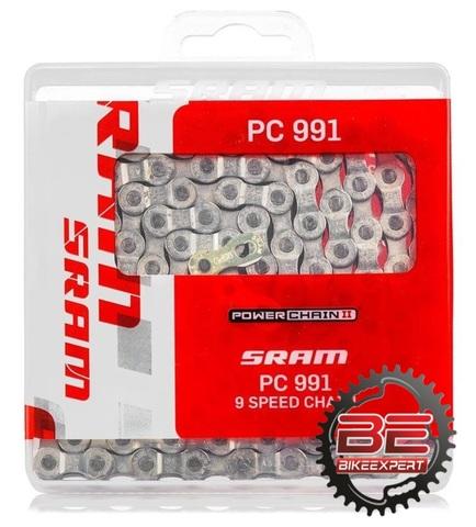 Велосипедная цепь Sram PC-991 BOX 116 звеньев 9 скоростей