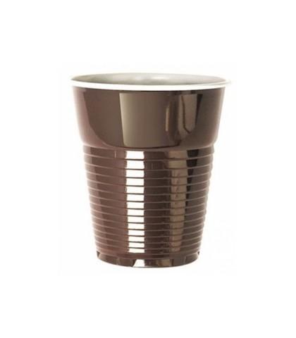Стакан кофейный коричневый 155 мл одноразовый Т1