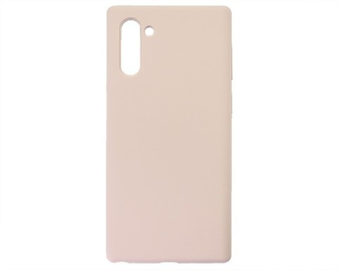 Чехол для Samsung (N970F) Galaxy Note 10 Софт тач мягкий эф4фект | микрофибра розовый песок