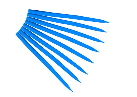 Свеча маканная голубая
