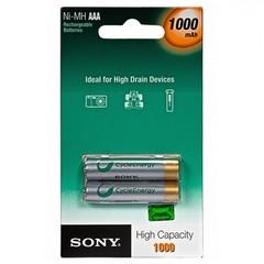 Аккумуляторы Sony NHAAAB2F R03, AAA 1000mAh 1x2 pcs