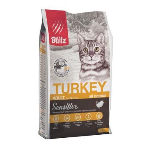 Blitz Корм для взрослых кошек, Blitz for Adult Cats Turkey, с индейкой взр_кош_инд_2.jpg