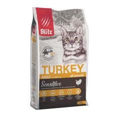 Корм для взрослых кошек, Blitz for Adult Cats Turkey, с индейкой