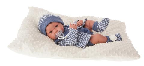 Munecas Antonio Juan Кукла-младенец Анжело в голубом, 42 см (5035)