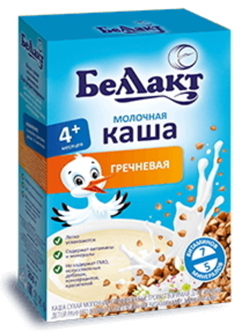 Каша сухая молочная гречневая с 4-х месяцев 250г. Беллакт