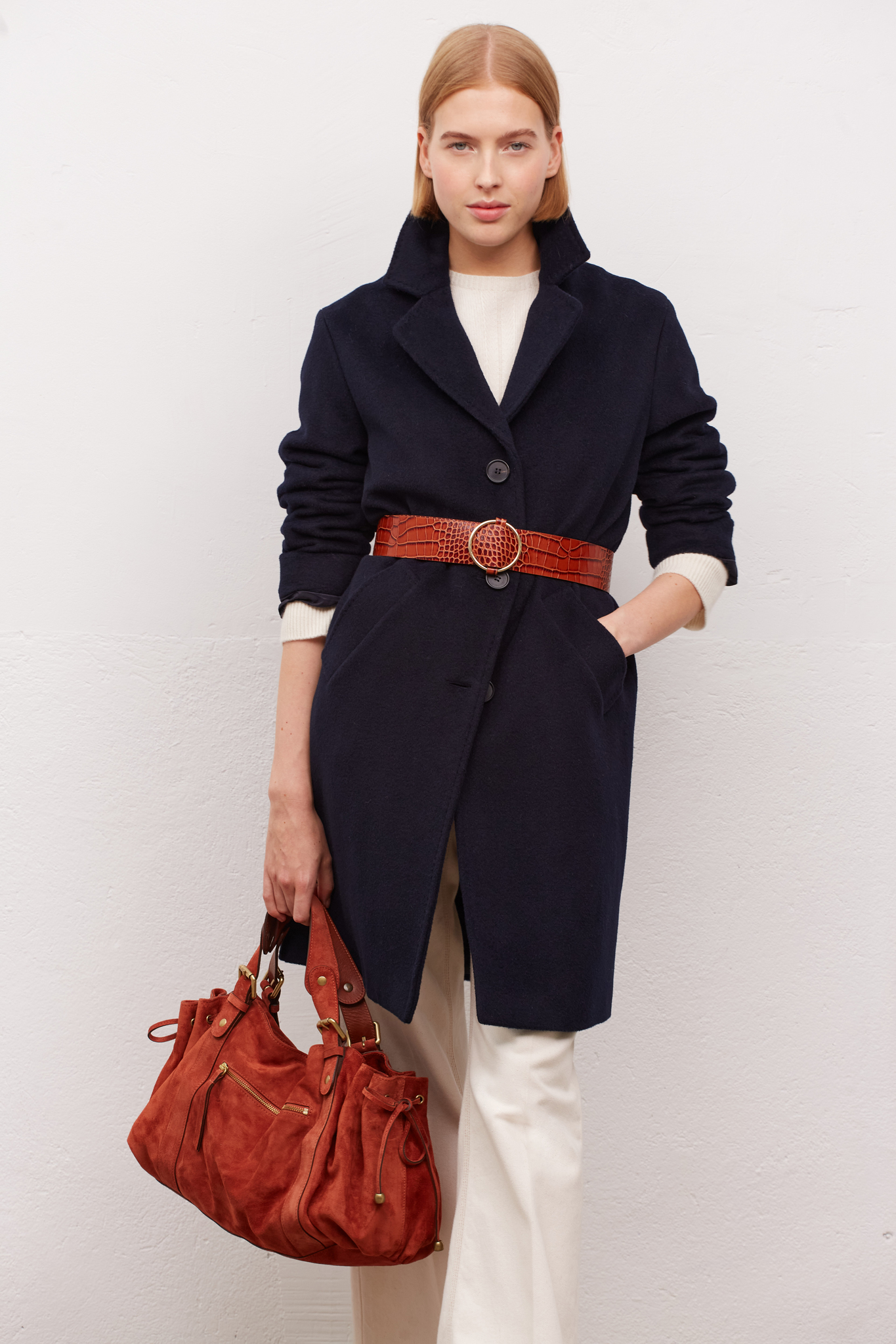 SIMONA - Прямое шерстяное пальто