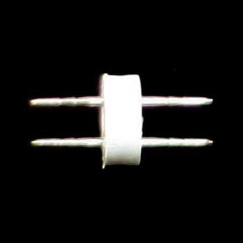 Двухполюсный соеденитьль светодиодного шланга дюралайт двух жильный двухразьемный ПВХ соединитель  11 мм