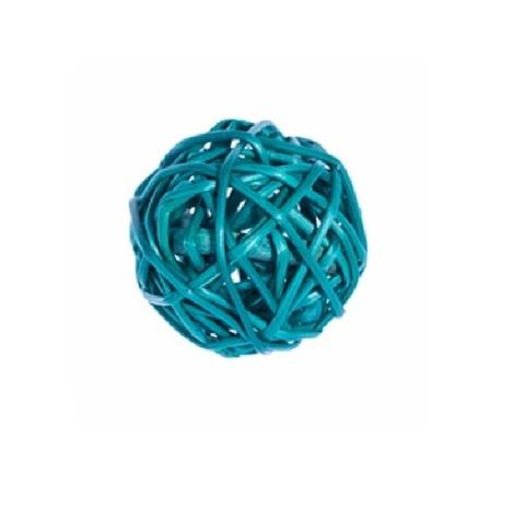 Плетеные шары из ротанга (набор:12 шт., d5см, цвет: бирюзовый)