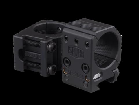 Тактические кольца SPUHR D30mm на Picatinny, H25,4мм, без наклона (SR-3000)
