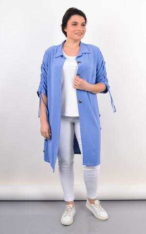 Челсі. Кардиган-сорочка на літо жіночий plus size. Джинс.