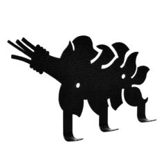 Вешалка металлическая 3 крючка «Веник» 15,5х8 см