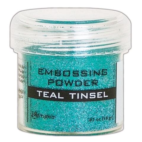 Пудра для эмбоссинга Ranger Ink- TEAL TINSEL