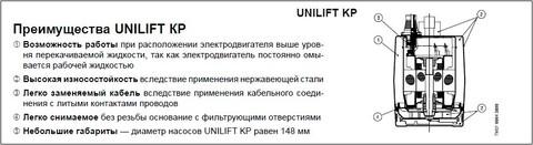 Grundfos Unilift KP 150 преимущества