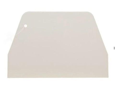 Скребок кондитерский пластиковый 10х7,5см