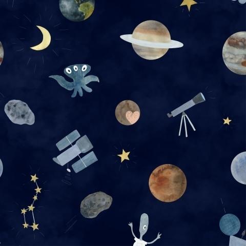 Космический на синем