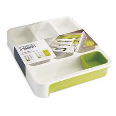 Органайзер для столовых приборов Joseph Joseph drawerstore™ раздвижной белый/зеленый 85041