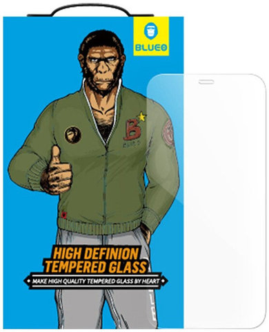 Защитное стекло BlueO для iPhone 12 Pro Max закален. с олеоф.покр. | 2.5D прозрачное 0.33мм