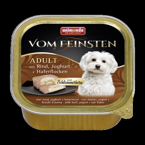 Animonda Vom Feinsten Adult Меню для гурманов Консервы для собак с говядиной, йогуртом и овсяными хлопьями (Ламистер)