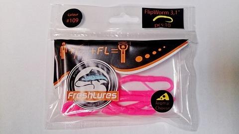 Силиконовая приманка FreshLures FlipWorm цвет 109, вкус сыра
