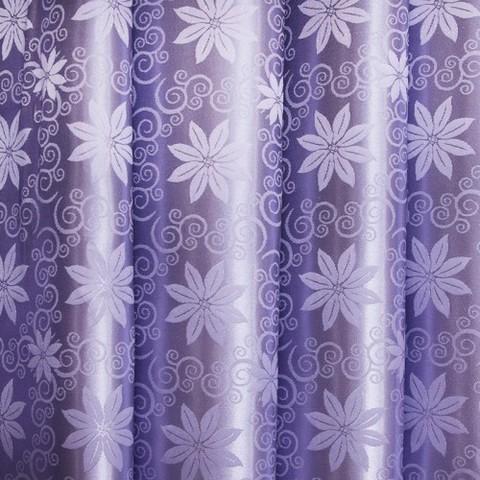 Портьерная ткань 150 см 19 цвет сирень цветы