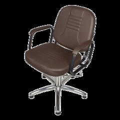 Парикмахерское кресло Бриз  гидравлика хром, пятилучье хром на подпятниках