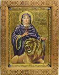 Большая Живописная икона Святая мученица Дария Римская 42х29см на кипарисе в березовом киоте