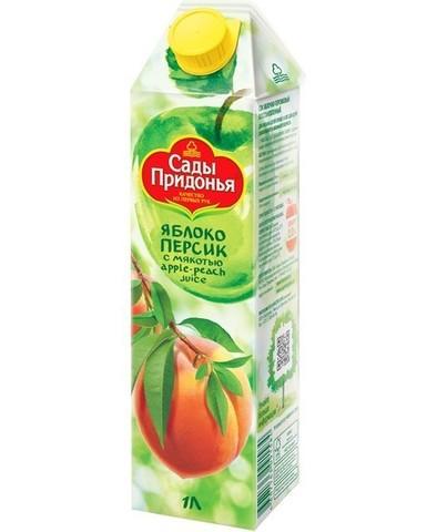 Сок Сады придонья Яблоко Персик 1л