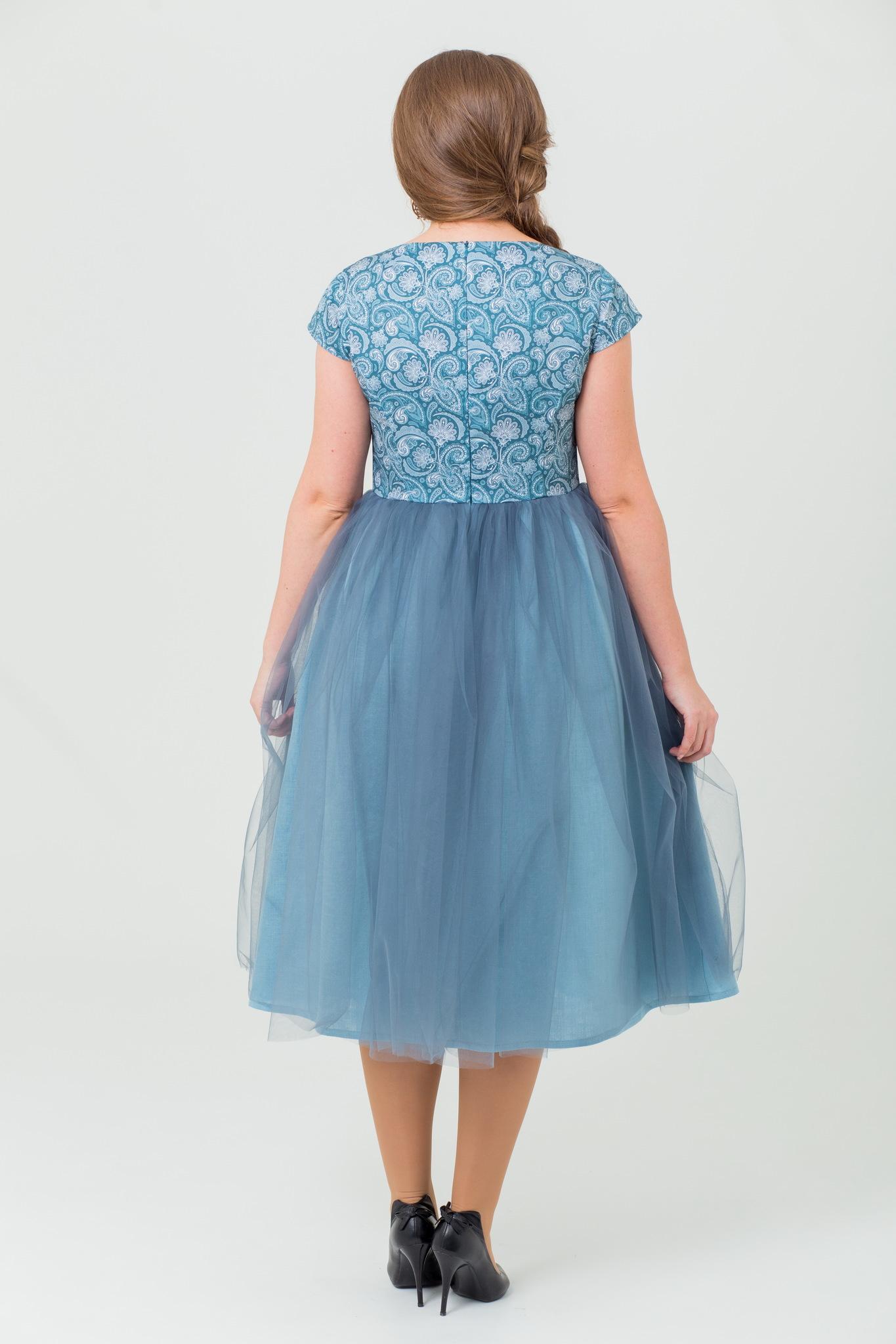 Вечернее платье с фатином Мерцание изумрудов